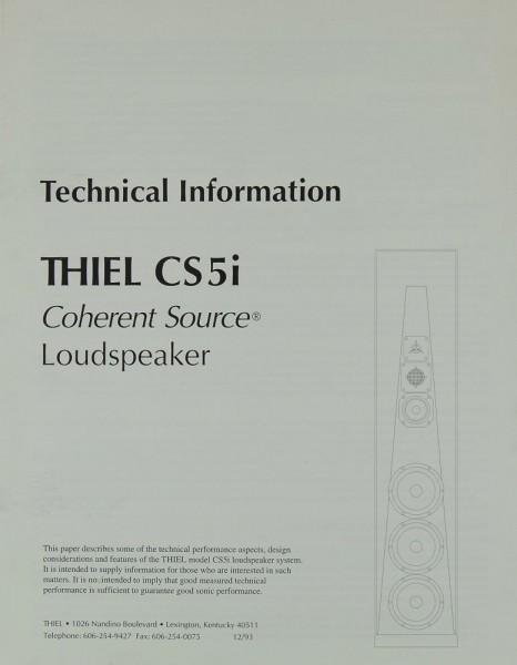 Thiel CS 5i Prospekt / Katalog