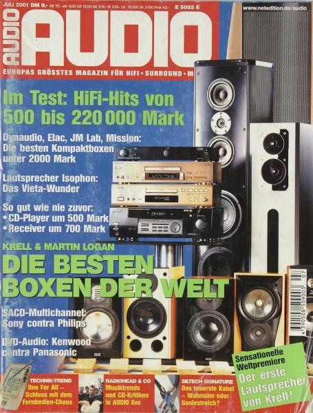Audio 7/2001 Zeitschrift