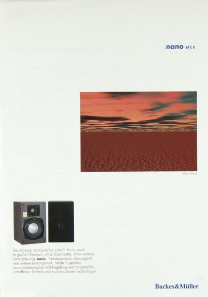 Backes & Müller Nano MK II Prospekt / Katalog