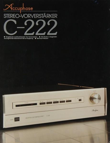 Accuphase C-222 Prospekt / Katalog