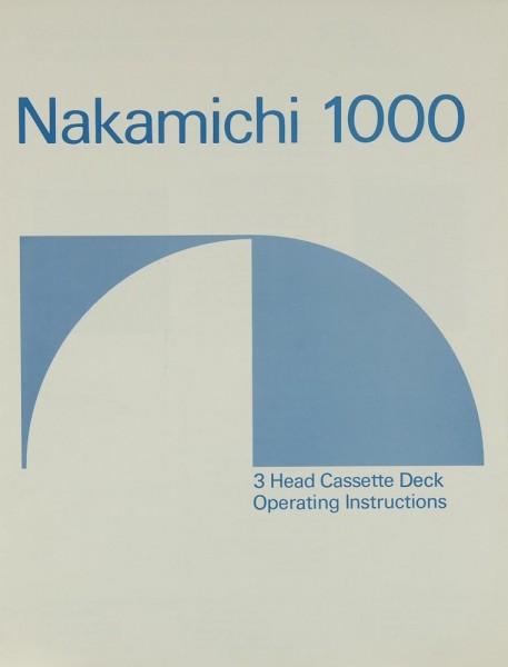 Nakamichi 1000 Bedienungsanleitung