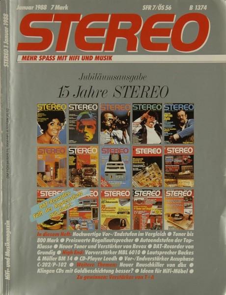 Stereo 1/1988 Zeitschrift