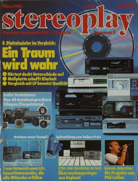 Stereoplay 3/1983 Zeitschrift