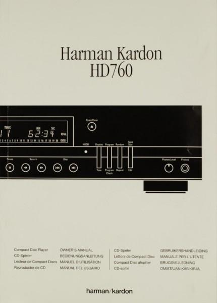 Harman / Kardon HD 760 Bedienungsanleitung