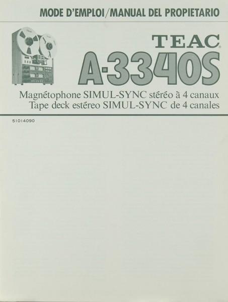Teac A-3340 S Bedienungsanleitung