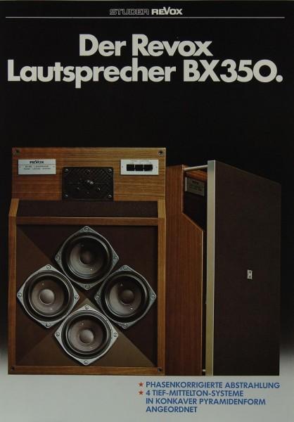 Revox BX 350 Prospekt / Katalog