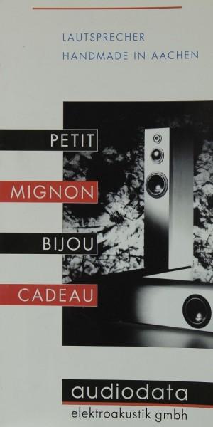 Audiodata Petit / Mignon / Bijou / Cadeau Prospekt / Katalog