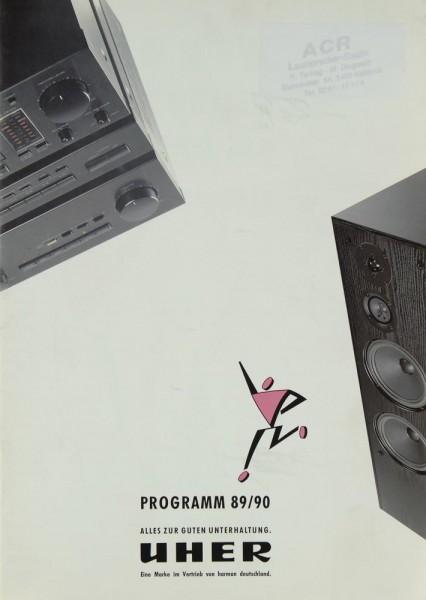 Uher Lieferübersicht 1989/1990 Prospekt / Katalog