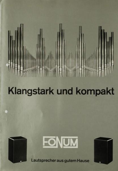 Fonum Klangstark und kompakt Prospekt / Katalog