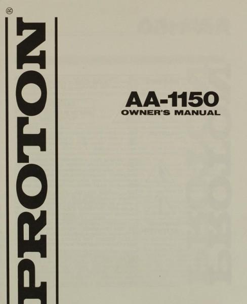 Proton AA-1150 Bedienungsanleitung