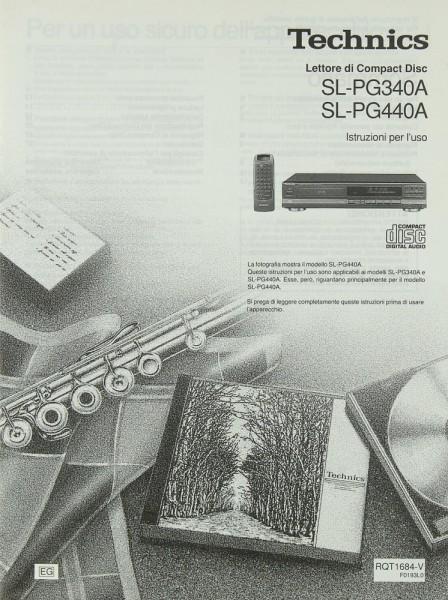 Technics SL-PG 340 A / SL-PG 440 A Bedienungsanleitung
