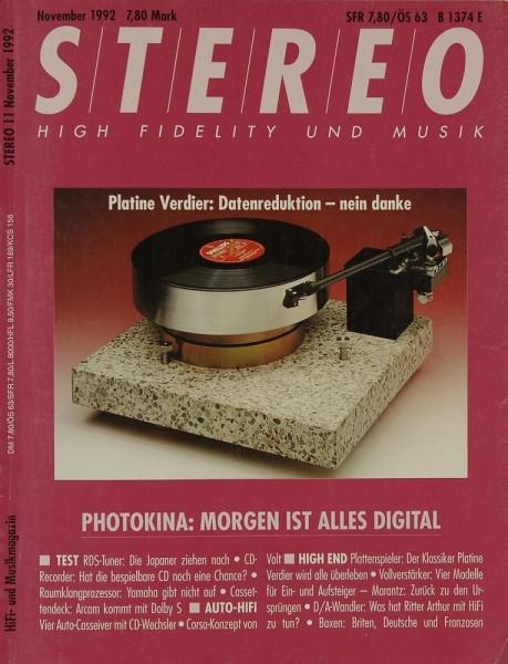 Stereo 11/1992 Zeitschrift