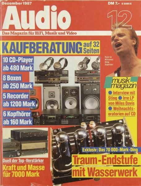 Audio 12/1987 Zeitschrift