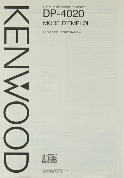 Kenwood DP-4020 Bedienungsanleitung