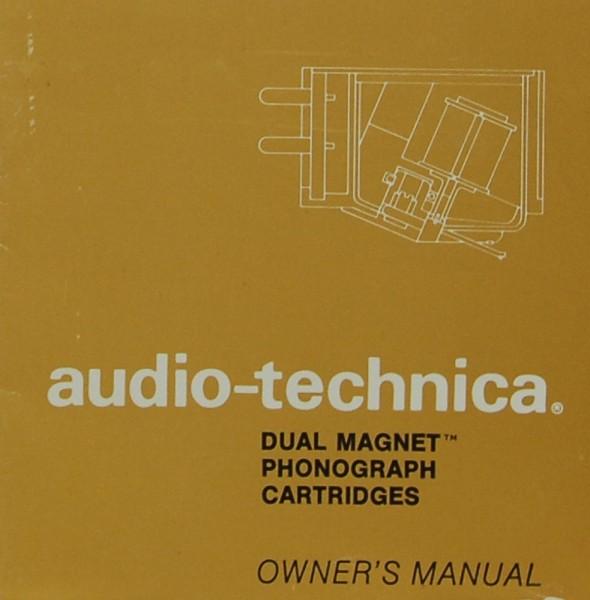 Audio-Technica Dual Magnet Phonograph Cartridges Bedienungsanleitung