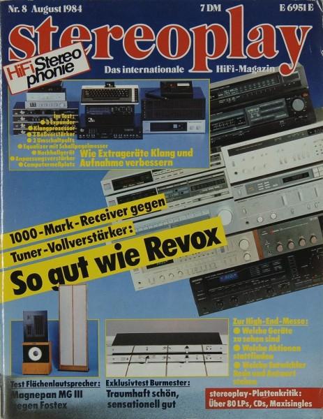 Stereoplay 8/1984 Zeitschrift