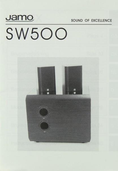 Jamo SW 500 Bedienungsanleitung