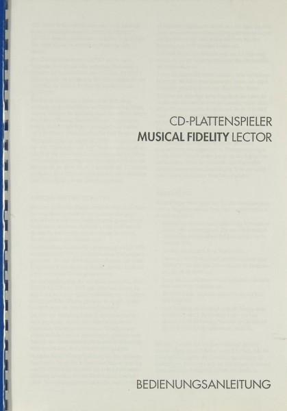 Musical-Fidelity Lector Bedienungsanleitung