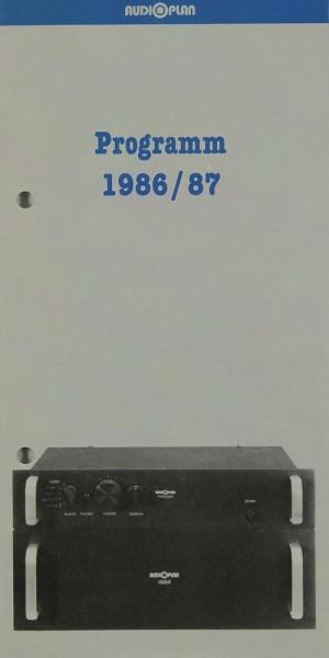 Audioplan Programm 1986 / 87 Prospekt / Katalog