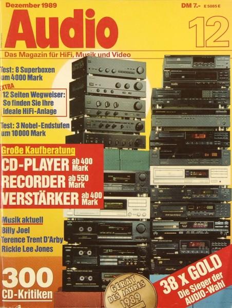 Audio 12/1989 Zeitschrift