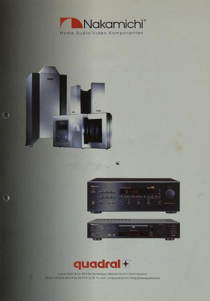 Nakamichi Home Audio / Video Komponenten Prospekt / Katalog