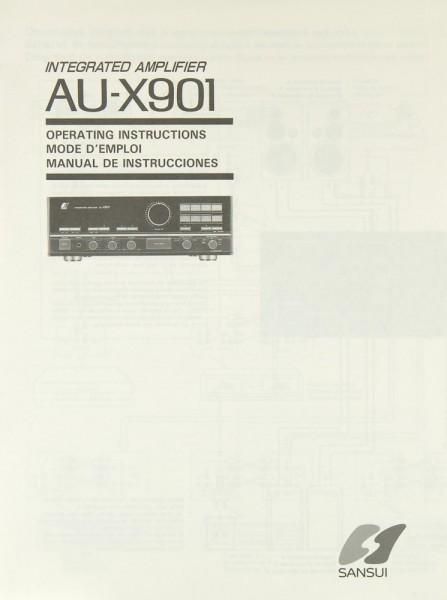 Sansui AU-X 901 Bedienungsanleitung