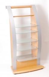 Holz Metall Glas Rack