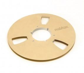 Revox 27er NAB Metall Leerspule gold