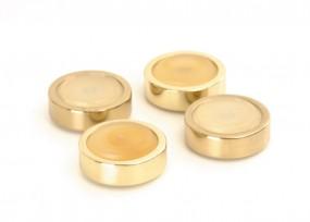 Gerätefüße 4er Set vergoldet