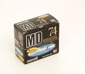 Maxell MD-74 RM Minidisc 5er Set