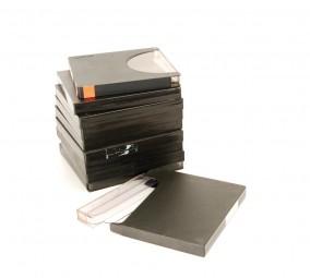 BASF / Agfa Tonband Archivboxen 18er schwarz 10er Set
