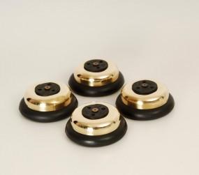 Transrotor Jumbo Pucks gold 4er Set