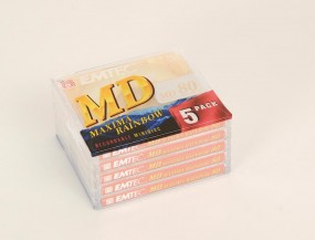 Emtec MD 80 Maxima Rainbow Minidisc 5er Set