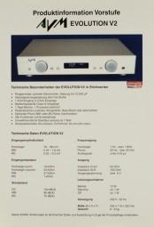 AVM Evolution V2 Prospekt / Katalog