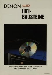 Denon HiFi-Bausteine 88/89 Prospekt / Katalog