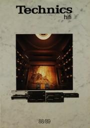 Technics Technics hifi 88/89 Prospekt / Katalog