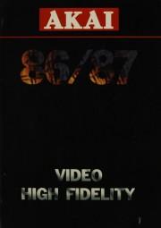 Akai 86/87 - Video / High Fidelity Prospekt / Katalog