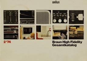 Braun Braun High Fidelity Gesamtkatalog / 2 ´74 Prospekt / Katalog