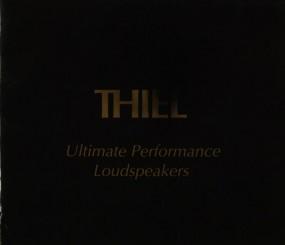 Thiel Ultimate Performance Loudspeakers Prospekt / Katalog
