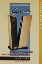 Audiodata Elance - Eleganz, Dynamik, Kraft, Schnelligkeit Prospekt / Katalog