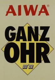 Aiwa Ganz Ohr 88/89 Prospekt / Katalog