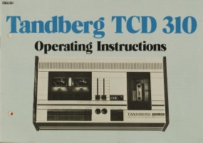 Tandberg TCD 310 Bedienungsanleitung