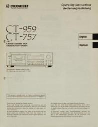Pioneer CT-959 / CT-757 Bedienungsanleitung