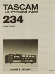 Tascam 234 Syncaset Bedienungsanleitung