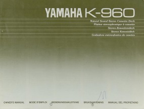 Yamaha K-960 Bedienungsanleitung
