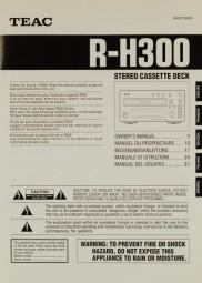 Teac R-H 300 Bedienungsanleitung
