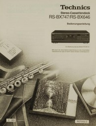Technics RS-BX 747 / RS-BX 646 Bedienungsanleitung