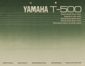 Yamaha T-500 Bedienungsanleitung