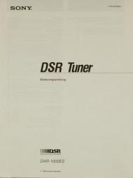 Sony DAR-1000 ES Bedienungsanleitung