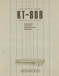 Kenwood KT-80 B Bedienungsanleitung